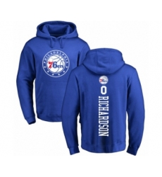 Basketball Philadelphia 76ers #0 Josh Richardson Royal Blue Backer Pullover Hoodie