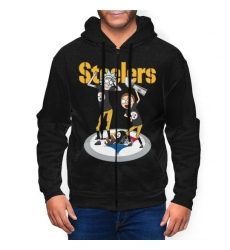 Steeler Men's Zip Hooded Sweatshirt