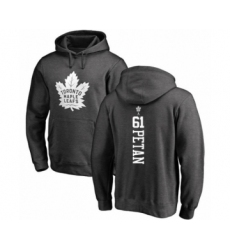 Hockey Toronto Maple Leafs #61 Nic Petan Charcoal One Color Backer Pullover Hoodie