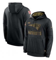 Men's NFL New England Patriots 2020 Salute To Service Black Pullover Hoodie