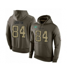 Football Men's New York Jets #84 Ryan Griffin Green Salute To Service Pullover Hoodie