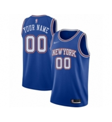 Youth New York Knicks Customized Authentic Blue Basketball Jersey - Statement Edition