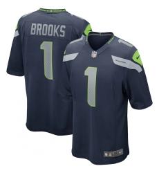 Men's Seattle Seahawks #1 Jordyn Brooks Nike Navy 2020 NFL Draft First Round Pick Game Jersey.webp