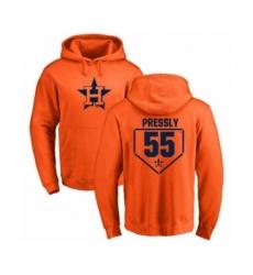 Baseball Houston Astros #55 Ryan Pressly Orange RBI Pullover Hoodie