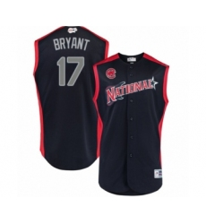Men's Chicago Cubs #17 Kris Bryant Authentic Navy Blue National League 2019 Baseball All-Star Jersey