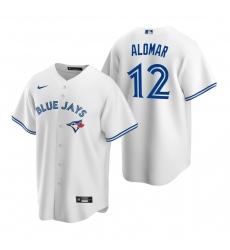 Men's Nike Toronto Blue Jays #12 Roberto Alomar White Home Stitched Baseball Jersey