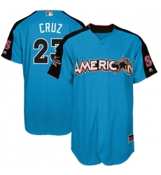 Youth Majestic Seattle Mariners #23 Nelson Cruz Replica Blue American League 2017 MLB All-Star MLB Jersey