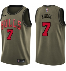 Men's Nike Chicago Bulls #7 Toni Kukoc Swingman Green Salute to Service NBA Jersey
