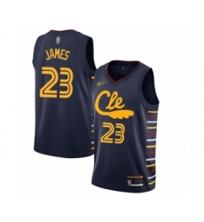 Men's Cleveland Cavaliers #23 LeBron James Swingman Navy Basketball Jersey - 2019 20 City Edition