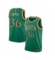 Men's Boston Celtics #36 Marcus Smart Swingman Green Basketball Jersey - 2019 20 City Edition