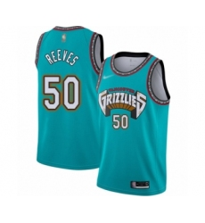 Men's Memphis Grizzlies #50 Bryant Reeves Authentic Green Hardwood Classic Basketball Jersey