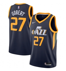 Men's Utah Jazz #27 Rudy Gobert Nike Navy 2020-21 Swingman Jersey