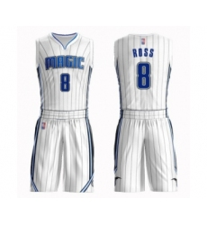Men's Orlando Magic #8 Terrence Ross Swingman White Basketball Suit Jersey - Association Edition