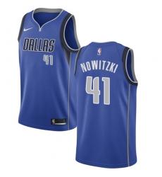 Youth Nike Dallas Mavericks #41 Dirk Nowitzki Swingman Royal Blue Road NBA Jersey - Icon Edition