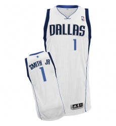 Women's Adidas Dallas Mavericks #1 Dennis Smith Jr. Authentic White Home NBA Jersey