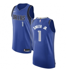 Women's Nike Dallas Mavericks #1 Dennis Smith Jr. Authentic Royal Blue Road NBA Jersey - Icon Edition