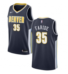 Men's Nike Denver Nuggets #35 Kenneth Faried Authentic Navy Blue Road NBA Jersey - Icon Edition