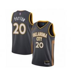 Men's Oklahoma City Thunder #20 Gary Payton Swingman Charcoal Basketball Jersey - 2019  20 City Edition