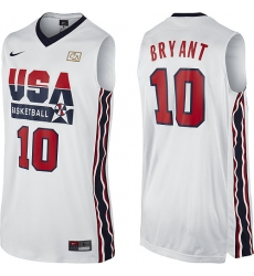 Men's Nike Team USA #10 Kobe Bryant Swingman White 2012 Olympic Retro Basketball Jersey