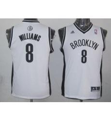 Nets #8 Deron Williams White Stitched Youth NBA Jersey