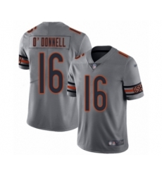 Youth Chicago Bears #16 Pat O'Donnell Limited Silver Inverted Legend Football Jersey