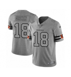 Men's Cincinnati Bengals #18 A.J. Green Limited Gray Team Logo Gridiron Football Jersey