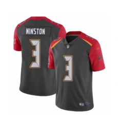 Youth Tampa Bay Buccaneers #3 Jameis Winston Limited Gray Inverted Legend Football Jersey