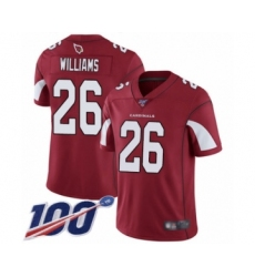 Men's Arizona Cardinals #26 Brandon Williams Red Team Color Vapor Untouchable Limited Player 100th Season Football Jersey