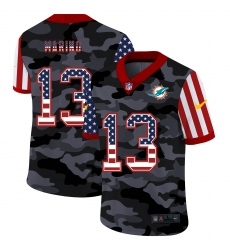 Men's Miami Dolphins #13 Dan Marino Camo Flag Nike Limited Jersey