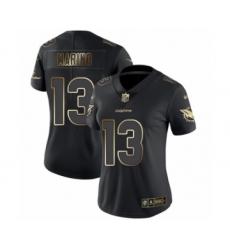 Women's Miami Dolphins #13 Dan Marino Black Gold Vapor Untouchable Limited Football Jersey