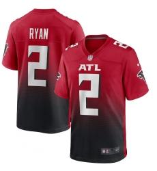 Men's Atlanta Falcons #2 Matt Ryan Nike Red 2nd Alternate Limited Jersey