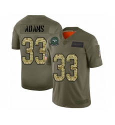 Men's New York Jets #33 Jamal Adams Limited Olive Camo 2019 Salute to Service Football Jersey