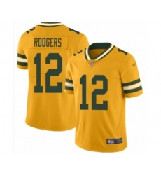 Men's Green Bay Packers #12 Aaron Rodgers Limited Gold Inverted Legend Football Jersey
