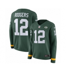 43d7a338d76 Youth Nike Green Bay Packers #12 Aaron Rodgers Limited Green Therma Long  Sleeve NFL Jersey