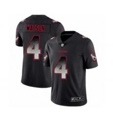 Men Houston Texans #4 Deshaun Watson Black Smoke Fashion Limited Jersey
