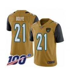 Men's Jacksonville Jaguars #21 A.J. Bouye Limited Gold Rush Vapor Untouchable 100th Season Football Jersey