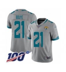 Men's Jacksonville Jaguars #21 A.J. Bouye Silver Inverted Legend Limited 100th Season Football Jersey