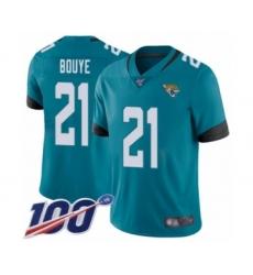 Men's Jacksonville Jaguars #21 A.J. Bouye Teal Green Alternate Vapor Untouchable Limited Player 100th Season Football Jersey